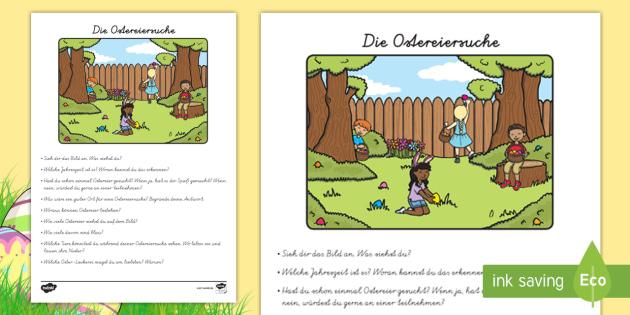 NEW * Die Ostereiersuche Arbeitsblatt - Ostern, Osterei