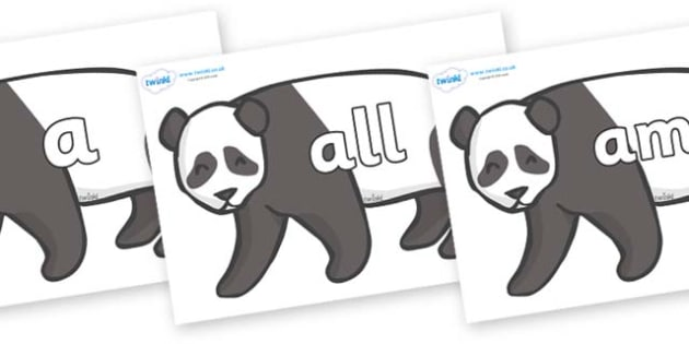 Foundation Stage 2 Keywords on Pandas - FS2, CLL, keywords, Communication language and literacy,  Display, Key words, high frequency words, foundation stage literacy, DfES Letters and Sounds, Letters and Sounds, spelling