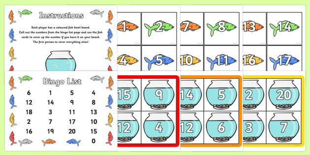 Number Bonds to 20 Bingo - Number bonds, Counting to 20, Adding to 10, Bingo Counting, numeracy, numbers, number patterns, number bonds, bingo, bonds to 20, rainbow facts