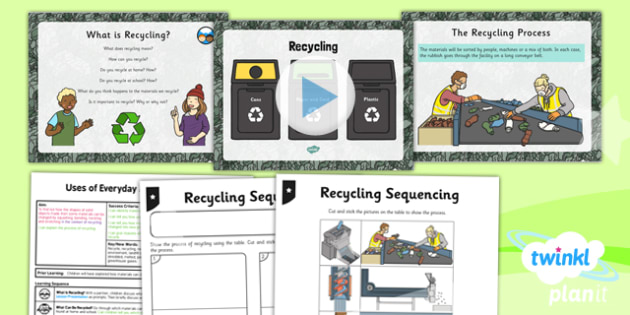 Science: Uses of Everyday Materials: Recycling Year 2 Lesson Pack 5