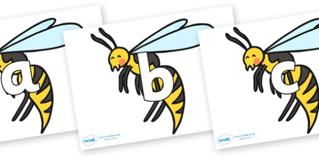 Phoneme Set on Wasps - Phoneme set, phonemes, phoneme, Letters and Sounds, DfES, display, Phase 1, Phase 2, Phase 3, Phase 5, Foundation, Literacy