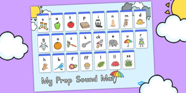 Winter Themed Prep Sound Mat - seasons, weather, keywords