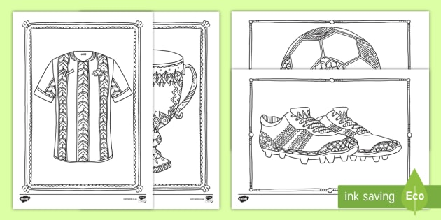 za t t football mindfulness colouring sheets English Afrikaans ver 1