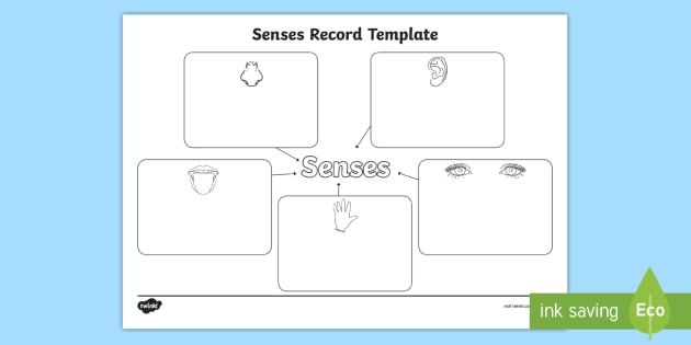 Senses Record Template - senses record, senses record template, graphic
