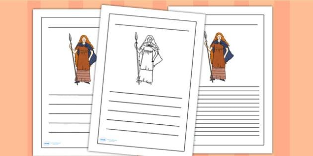 Boudicca Writing Frames - boudicca, page borders, writing frames, lined pages, writing guides, lined guides, line guide, writing templates, writing aid