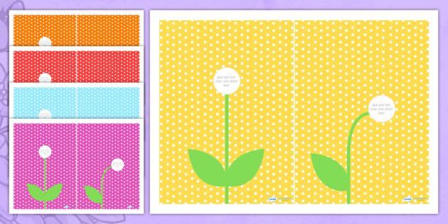 A5 Flower Photo Craft Instructions - flower, spring, craft, art