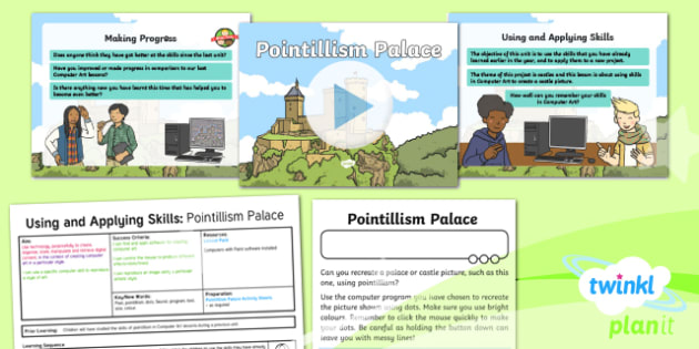 Computing: Using and Applying Skills: Pointillism Palace Year 2 Lesson Pack 1