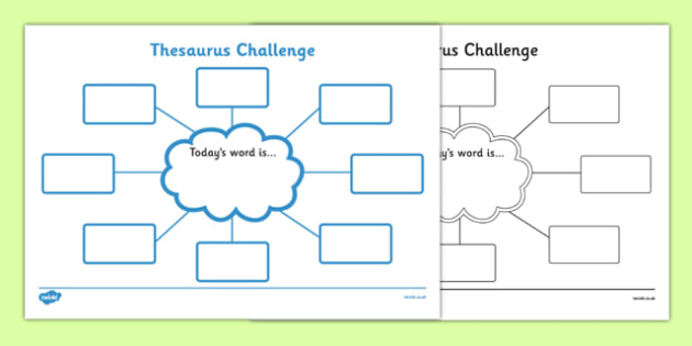 Thesaurus Challenge Worksheets - Thesaurus Challenge ...