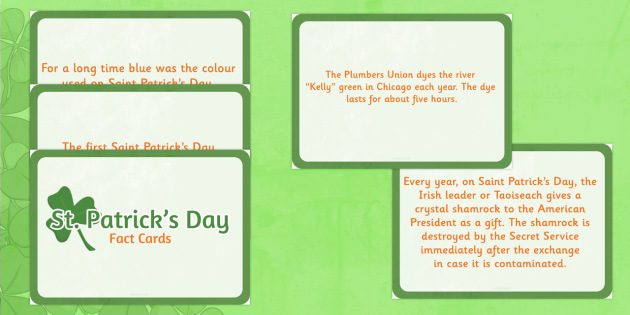 Interesting Facts about Saint Patrick's Day Display Cards - gaeilge, facts, display, cards, Saint Patrick's Day, Ireland, religion