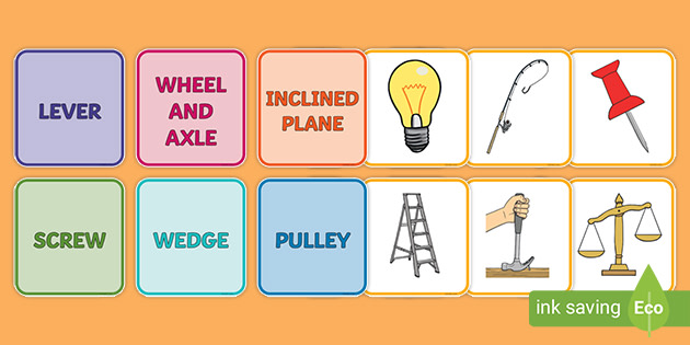 simple machines sorting cards teacher made