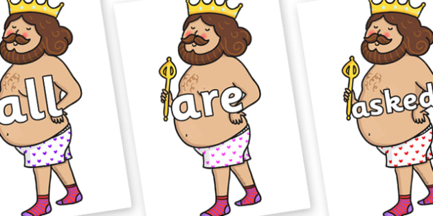 Tricky Words on Naked Emperor - Tricky words, DfES Letters and Sounds, Letters and sounds, display, words