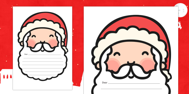 santa writing template