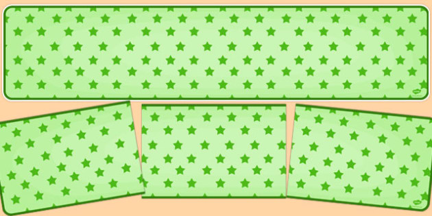 Green Stars on Green Editable Display Banner - display banner