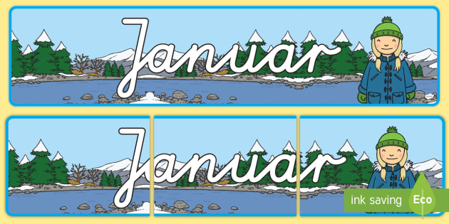 Januar Display Banner German - german, january, display banner, display, banner