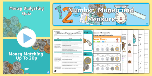 CfE Numeracy and Mathematics – First Level – Number, Money and Measure – Money Resource Pack