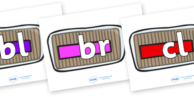 Initial Letter Blends on Bread Loaves - Initial Letters, initial letter, letter blend, letter blends, consonant, consonants, digraph, trigraph, literacy, alphabet, letters, foundation stage literacy