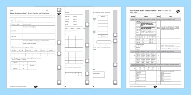 Year 5 Maths Assessment: Place Value Term 2 - y5, year 5, ks2, uks2, upper, key, stage, 2, assessment, test, tests, practise, maths, place value, number, new curriculum