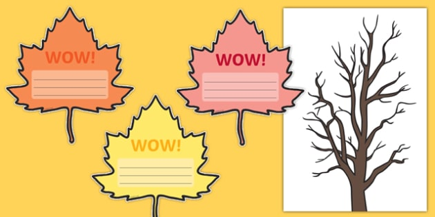Autumn Wow Tree Large Display Cut Out Pack