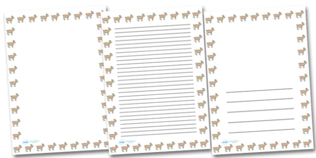 Goat Portrait Page Borders- Portrait Page Borders - Page border, border, writing template, writing aid, writing frame, a4 border, template, templates, landscape