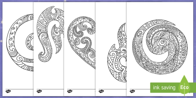 NEW * New Zealand Koru Mindfulness Colouring Pages