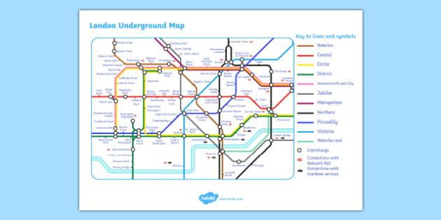 London Underground Map - London, underground, map, transport, captial, England, tourism, tourist, information, Big Ben, Parliament, Tower Bridge, sight seeing