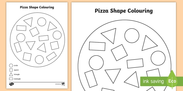 shape pizza colouring activity shape pizza colouring activity - Colouring In Activities