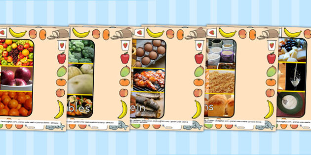 Food Groups Photo PowerPoint - food, cooking, healthy eating