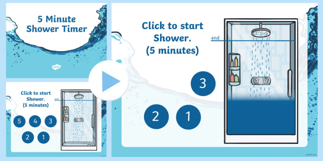 new 5 minute shower timer powerpoint green week eco