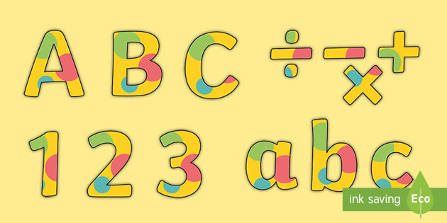 BBC Children in Need Display Lettering