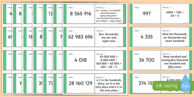 KS2 Mixed Digit Place Value Loop Cards