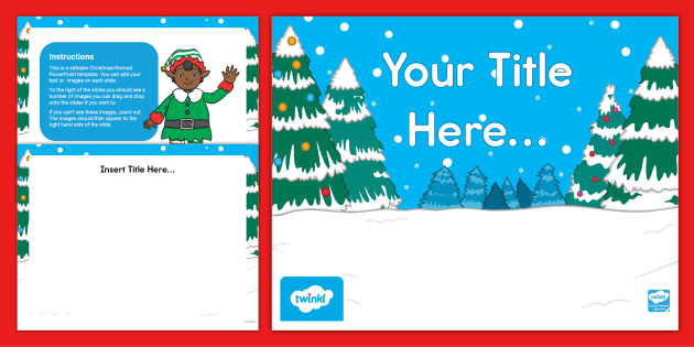 Editable Christmas Powerpoint Template Holiday Resources