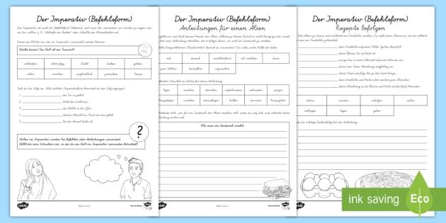 NEW * Der Imperativ (Befehlsform) Arbeitsblatt - Befehlsform