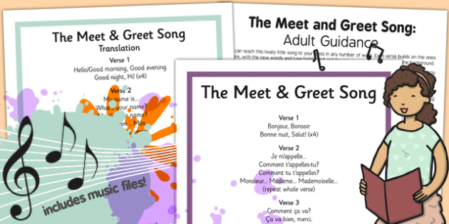 French the meet and greet song pack french song pack meet m4hsunfo