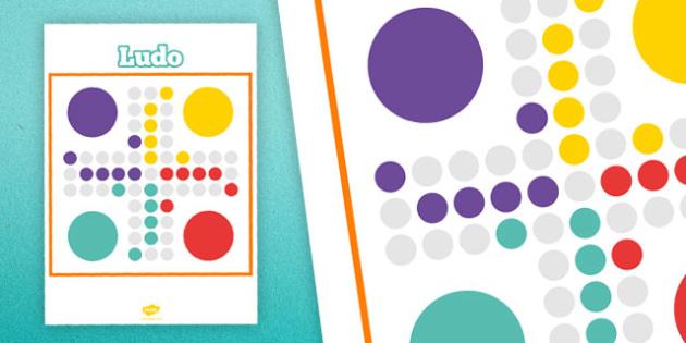 Printable Ludo Board - printable, ludo game, ludo, game, activity, class