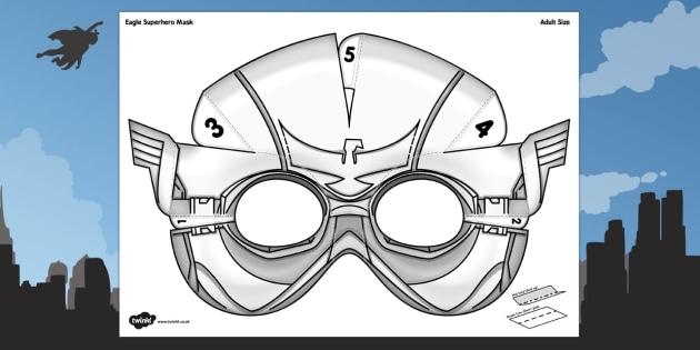D Eagle Superhero Mask Printable  D Eagle Superhero Mask