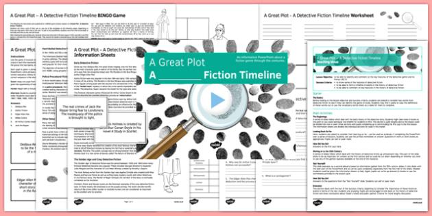 A Great Plot: A Detective Fiction Timeline Lesson Pack - a great plot, detective, fiction, timeline