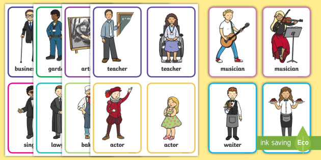 Career Flashcards PDF | Common Jobs | Primary Resources
