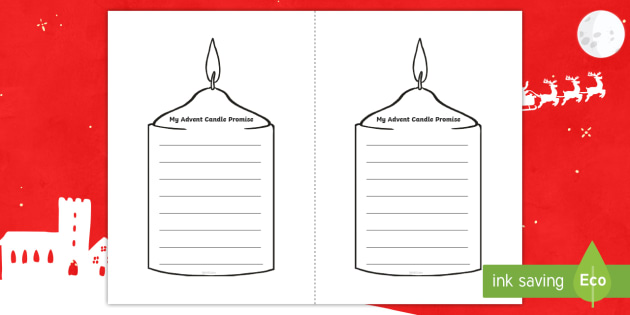 Advent Candle Promise Worksheet Activity Sheet Christmas