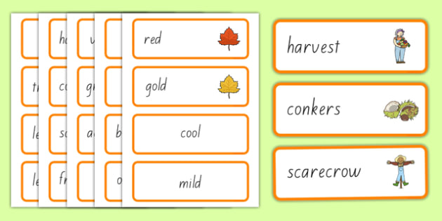 Autumn Word Cards