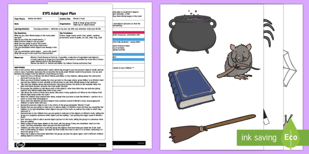EYFS Winnie's Trunk Adult Input Plan and Resource Pack