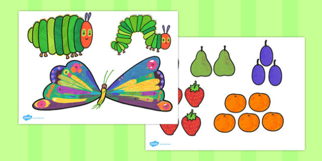 Story Cut Outs to Support Teaching on The Very Hungry Caterpillar - australia, hungry, caterpillar