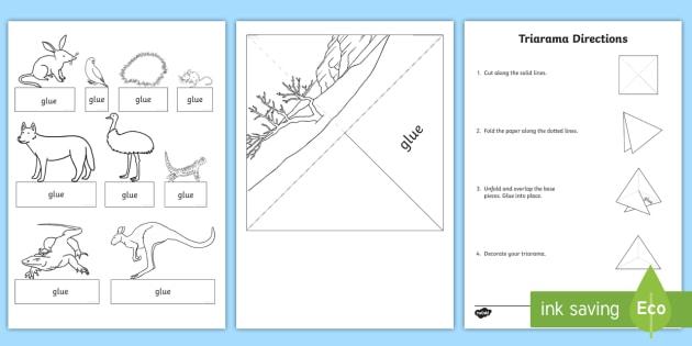 australian desert habitat triarama worksheet activity sheet. Black Bedroom Furniture Sets. Home Design Ideas