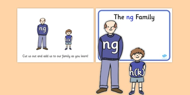 Ng Sound Family Cut Outs - sound families, sounds, cutouts, cut