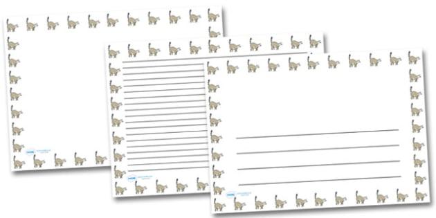 Lemur Landscape Page Borders- Landscape Page Borders - Page border, border, writing template, writing aid, writing frame, a4 border, template, templates, landscape