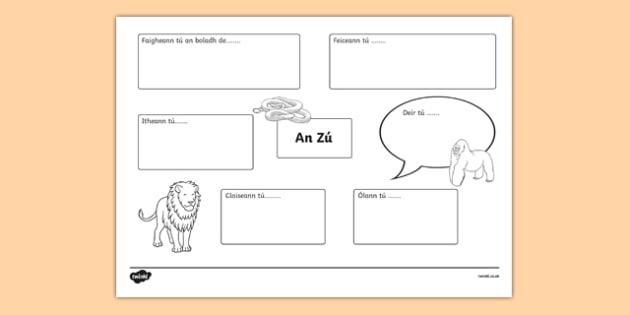 An Zú Sensory Activity Sheet, worksheet
