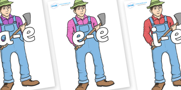 Modifying E Letters on Mr Arable - Modifying E, letters, modify, Phase 5, Phase five, alternative spellings for phonemes, DfES letters and Sounds