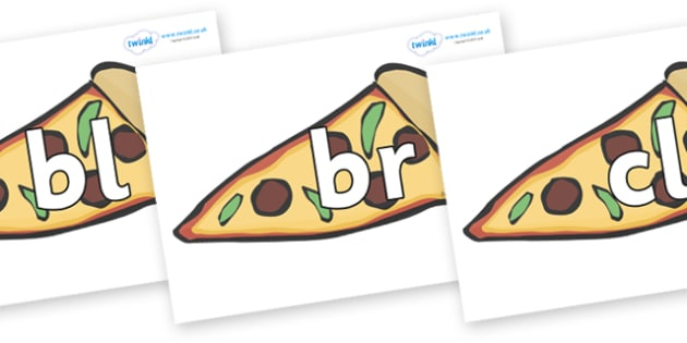 Initial Letter Blends on Pizza - Initial Letters, initial letter, letter blend, letter blends, consonant, consonants, digraph, trigraph, literacy, alphabet, letters, foundation stage literacy