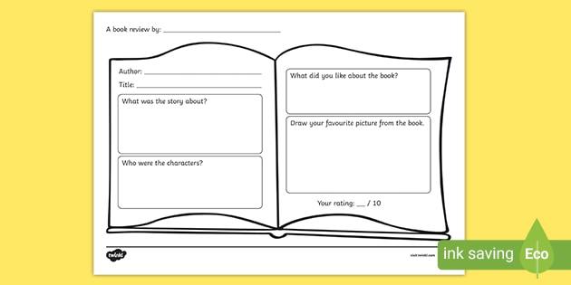 FREE! - Book Review Worksheet (teacher Made)