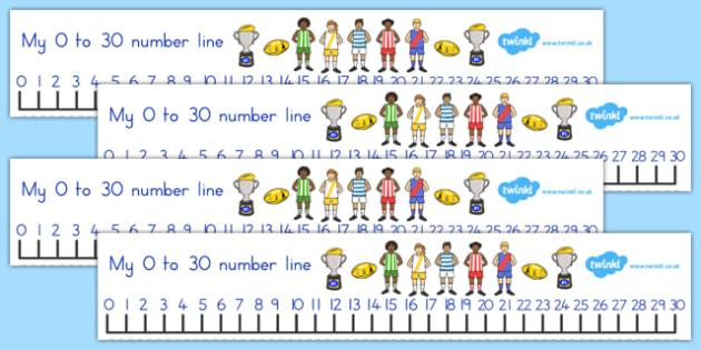 AFL Australian Football League Football Number Line 0-30 - number
