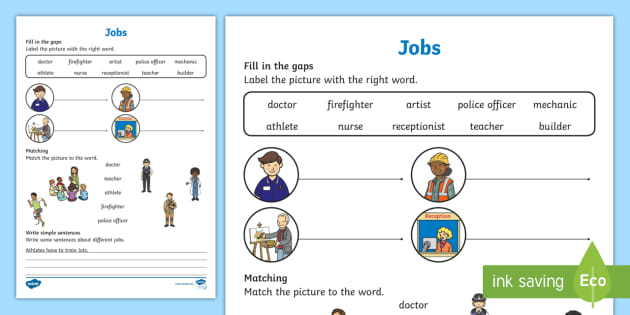 Jobs Worksheet / Worksheet, worksheet